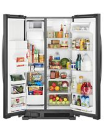 Whirlpool Wrs331sdhb 33 Quot Side By Side Refrigerator 21 Cu